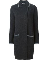 Женское темно-серое вязаное пальто от Tomas Maier