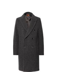 """Темно-серое длинное пальто с узором """"в ёлочку"""" от Barena"""