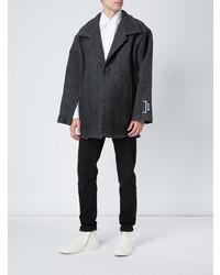 """Темно-серое длинное пальто с узором """"в ёлочку"""" от A-Cold-Wall*"""