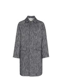 """Темно-серое длинное пальто с узором """"в ёлочку"""" от Jil Sander"""