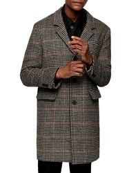 """Темно-серое длинное пальто с узором """"гусиные лапки"""""""