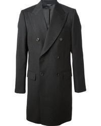 Темно-серое длинное пальто