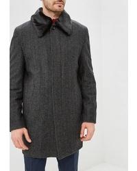 Темно-серое длинное пальто от Absolutex