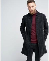 Мужское темно-серое длинное пальто от Asos