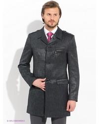 Мужское темно-серое длинное пальто от Bazioni