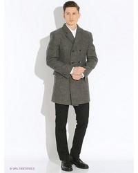 Мужское темно-серое длинное пальто от Berkytt