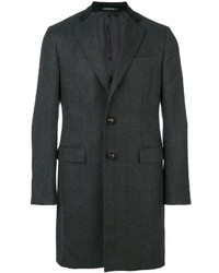 Темно-серое длинное пальто от Caruso