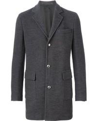 Темно-серое длинное пальто от Eleventy