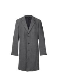 Темно-серое длинное пальто от Issey Miyake Men