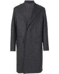 Темно-серое длинное пальто от Jil Sander