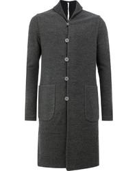 Темно-серое длинное пальто от Label Under Construction
