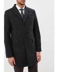 Темно-серое длинное пальто от Sainy