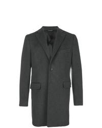 Темно-серое длинное пальто от Tonello
