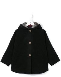 Детское темно-серое пальто для девочке