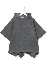 Детское темно-серое пальто для девочке от Il Gufo