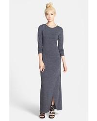 Темно-серое платье-макси