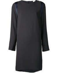 Темно-серое платье прямого кроя от Brunello Cucinelli