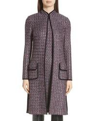 Темно-серое твидовое пальто
