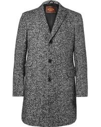 """Мужское темно-серое шерстяное пальто с узором """"в ёлочку"""" от Tod's"""