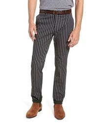 Темно-серые брюки чинос в вертикальную полоску