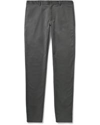Темно-серые брюки чинос