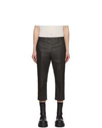 Темно-серые брюки чинос от Rick Owens