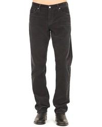 Темно-серые вельветовые джинсы