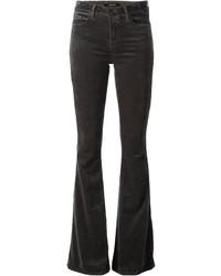 Темно-серые джинсы-клеш