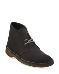 Темно-серые замшевые ботинки дезерты