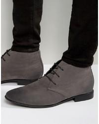 Темно-серые замшевые ботинки дезерты от ASOS DESIGN