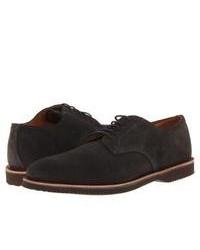 Темно-серые замшевые туфли дерби