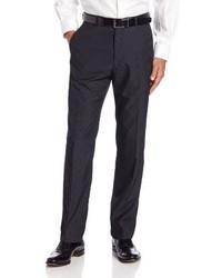 Темно-серые классические брюки в вертикальную полоску
