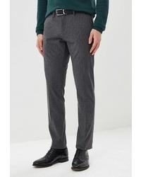 Мужские темно-серые классические брюки в вертикальную полоску от BAWER