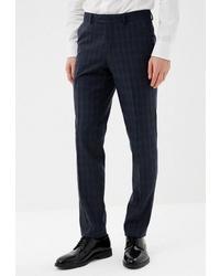 Мужские темно-серые классические брюки в шотландскую клетку от Absolutex