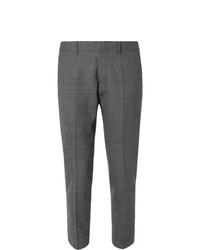 Мужские темно-серые классические брюки в шотландскую клетку от Ami