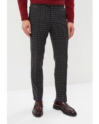 Мужские темно-серые классические брюки в шотландскую клетку от Bazioni