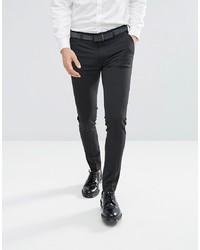 Мужские темно-серые классические брюки от ASOS DESIGN