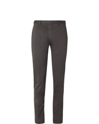 Мужские темно-серые классические брюки от Boglioli