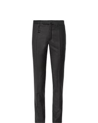 Мужские темно-серые классические брюки от Incotex
