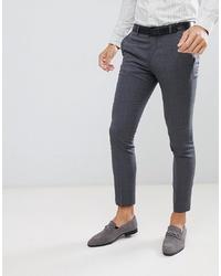 Мужские темно-серые классические брюки от Jack & Jones