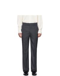 Мужские темно-серые классические брюки от Lemaire