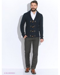Мужские темно-серые классические брюки от Oodji