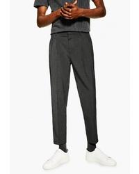 Мужские темно-серые классические брюки от Topman