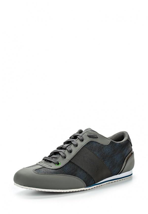 Мужские темно-серые кожаные кроссовки от Boss Green