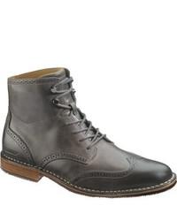 Темно-серые кожаные повседневные ботинки