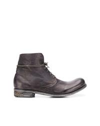 Мужские темно-серые кожаные повседневные ботинки от A Diciannoveventitre