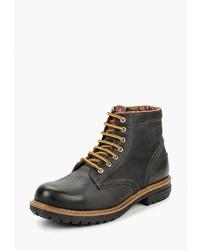 Мужские темно-серые кожаные повседневные ботинки от Airbox