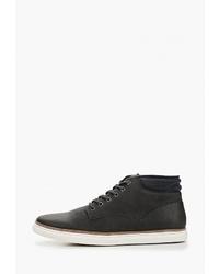 Мужские темно-серые кожаные повседневные ботинки от Bata