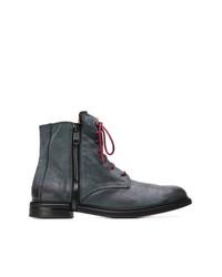 Мужские темно-серые кожаные повседневные ботинки от Diesel