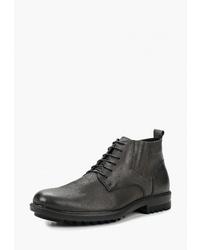Мужские темно-серые кожаные повседневные ботинки от Dino Ricci